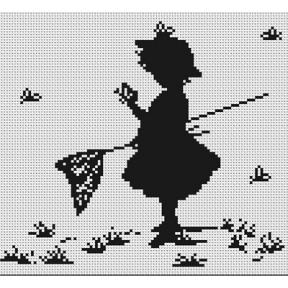 Набор для вышивки Luca-S B287 Девочка с бабочками