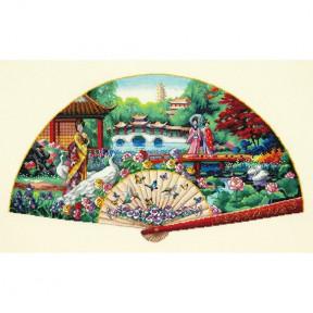 Набор для вышивания крестом Dimensions 70-35327 Garden Fan фото