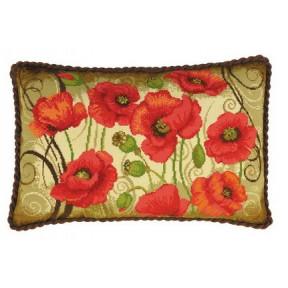 Набор для вышивки Риолис 1433 Подушка Восточные маки фото