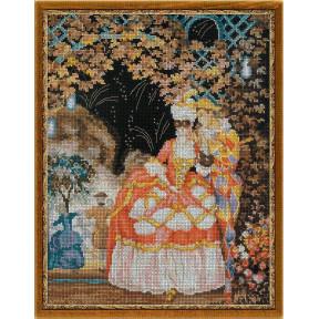 Набор для вышивки крестом Риолис 100/025 Арлекин и дама фото
