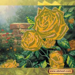Схема для вышивания бисером Абрис Арт АС-166 Чайные розы фото