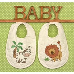 Набор для вышивания детских фартушков 70-73881 Kimba Bibs фото