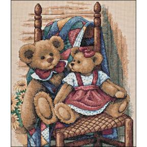 Набор для вышивания крестом Classic Design 4366 Мишки на стуле