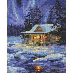 Набор для вышивания Dimensions 71-20072 Winter Sky Cabin фото