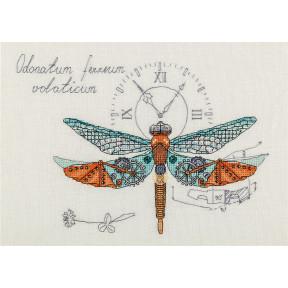 Набор для вышивки крестом Panna М-1872 Стрекоза механическая