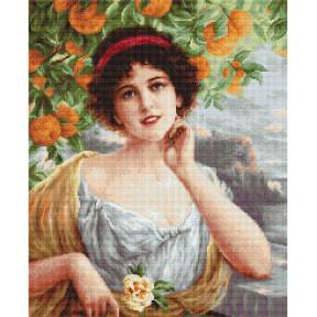 Набор для вышивки гобелена Luca-S G546 Красавица под апельсиновым деревом