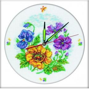 Набор для вышивки крестом RTO M40006 Цветочные часы фото