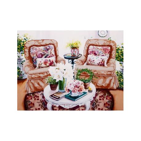 Схема для вышивки бисером Волшебная Страна FLS-062 Домашний уют