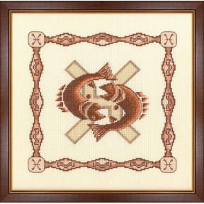 Набор для вышивки крестом Золотое Руно Г-003 Рыбы фото