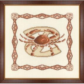Набор для вышивки крестом Золотое Руно Г-007 Рак фото