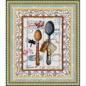 Набор для вышивки бисером Золотое Руно РТ-094 Стильная кухня. Ложки
