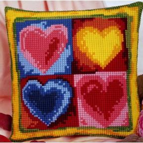 Набор для вышивки подушки Vervaco 1200/918 Сердечки фото