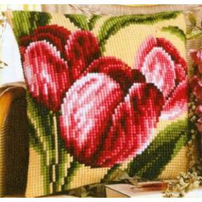 Набор для вышивки подушки Vervaco 1200/983 Букет тюльпанов фото