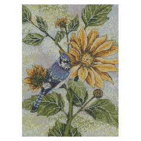 Набор для вышивания крестом Bucilla 45818 Sunflower Bluejay фото