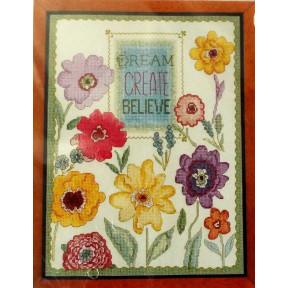 Набор для вышивания Bucilla 45953 Dream Create Believe фото