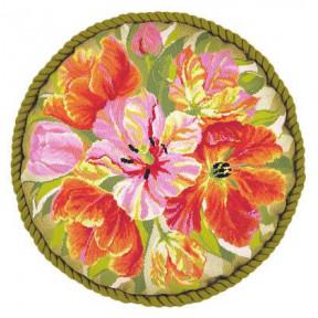 Набор для вышивки крестом Риолис 1500 Подушка Тюльпаны фото