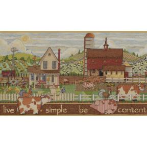 Набор для вышивания Bucilla 45657 Live Simple, Be Content фото