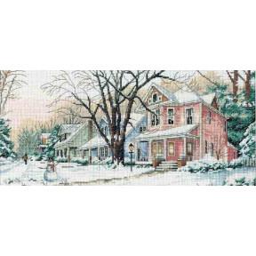 Набор для вышивания крестом Classic Design 4374 Зимняя улица