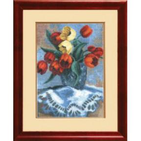 Набор для вышивки крестом Чарівна Мить 541ч Букет тюльпанов
