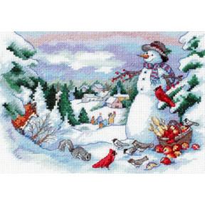 Набор для вышивания крестом Classic Design  Друзья Снеговика 4376
