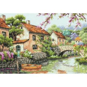 Набор для вышивки крестом Dimensions 70-35330 Village Canal фото