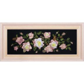 Набор для вышивки лентами Чарівна Мить Л-007 Розы фото