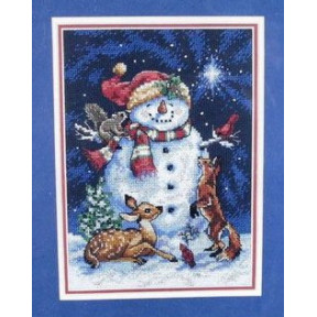 Набор для вышивания Dimensions 8561 Midnight Snowman фото