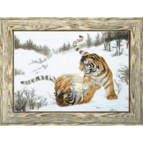 Набор для вышивки крестом Чарівна Мить М-219 Игривые тигры