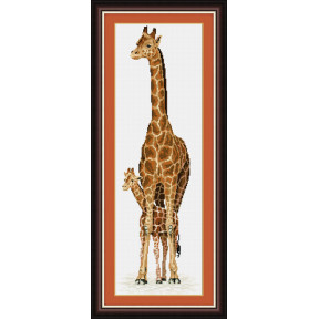 Набор для рисования камнями (холст) Lasko TT017 Жирафа и
