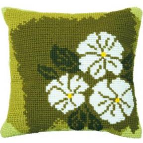 Набор для вышивки подушки Чарівна Мить РТ-173 Белые цветы фото