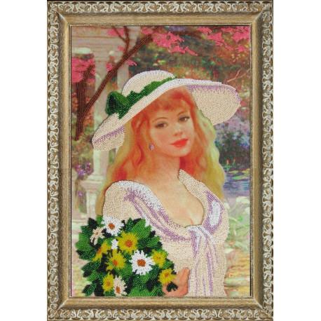Набор для вышивания бисером Butterfly 411 Девушка с букетом фото