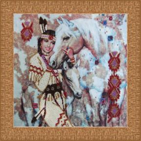Набор для вышивания бисером Butterfly 415 Индианка