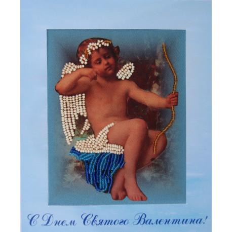 Набор для вышивания открытки бисером Butterfly 724 Амур фото