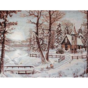 Набор для вышивки крестом Luca-S  Зимний пейзаж B321