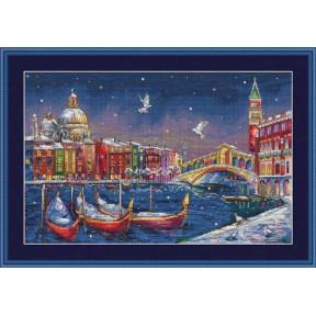 Набор для вышивания крестом Мережка Праздничная Венеция К-29