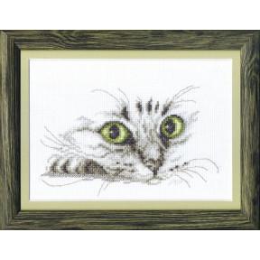 Набор для вышивки крестом Чарівна Мить М-267 Взгляд кота фото