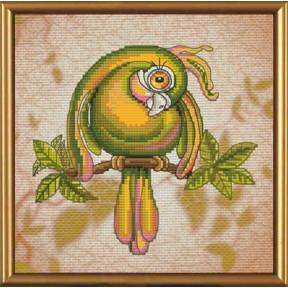 Набор для вышивания крестом Новая Слобода СВ-5555 Зеленый попугай