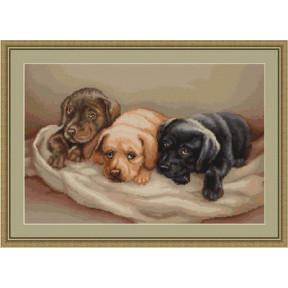 Набор для вышивки крестом Luca-S B434 Три собачки