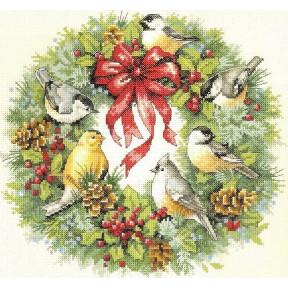 Набор для вышивания крестом Classic Design Зимний венок 4385