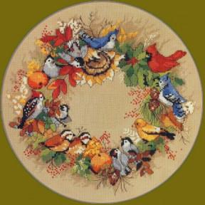 Набор для вышивания крестом Classic Design 4386 Осенний венок