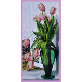Набор для вышивания Картины Бисером Р-242 Тюльпаны на окне фото