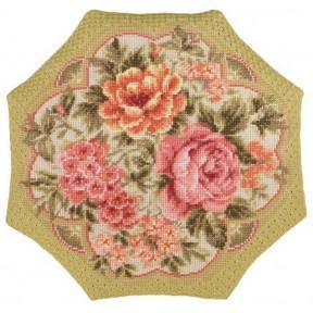 """Набор для вышивки крестом Риолис 1558 Подушка """"Вечерний сад"""""""