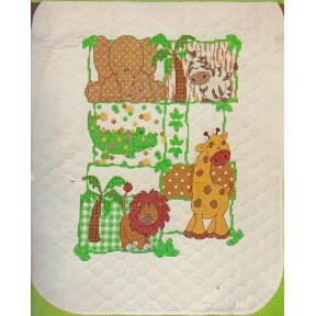 Набор для вышивания одеяла Dimensions 70-73880 Kimba Baby Ouilt