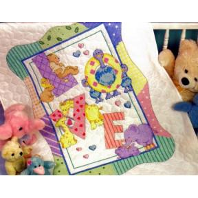 Набор для вышивания одеяла Dimensions 73470 Zoo Alphabet Quilt