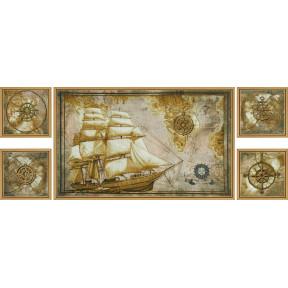 Набор для вышивания крестом Новая Слобода СВ-6584 Морское путешествие