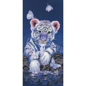 """Набор для вышивания Anchor MAIA 01165 """"White Baby Tiger/Белый"""