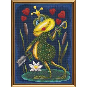 Набор для вышивания бисером и крестом  Нова Слобода ННД-4085 Царевна квакушка
