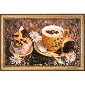 Набор для вышивания бисером Butterfly 268 Утренний кофе фото