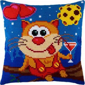 Набор для вышивки подушки Чарівниця Z-44 Мартовский кот фото