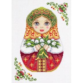 Набор для вышивки крестом Panna НМ-1839 Русская матрешка. Весна